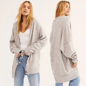 Free People Grey Eucalyptus Oversized Cardigan